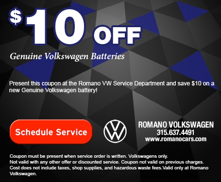 $10 off Genuine VW Batteries