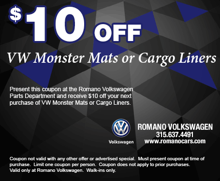 VW Monster Mats or Cargo Liner Savings Coupon