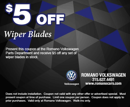 Romano VW Wiper Blade Special Coupon
