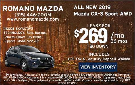 New 2019 Mazda CX-3 Leases