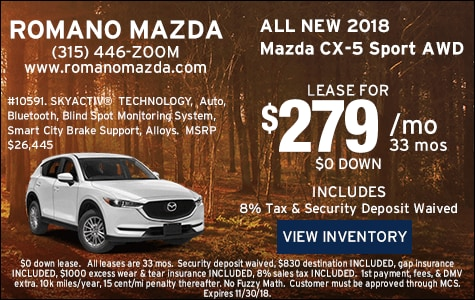 New 2018 Mazda CX-5 Sport AWD Leases