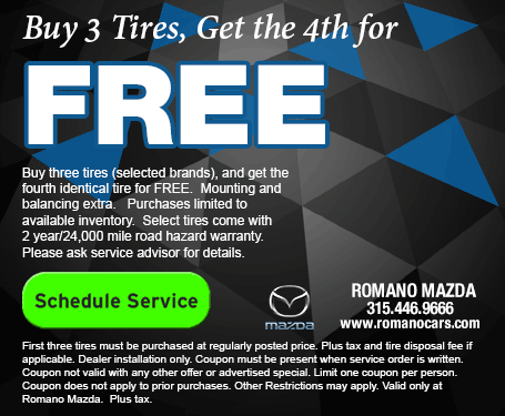 Save on Tires for Your Mazda at our Syracuse Service Center