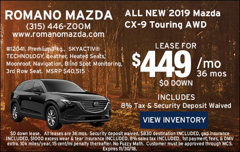 New 2018 Mazda CX-9 Grand Touring AWD Leases Syracuse