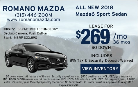 New 2018 Mazda6 Sport Leases Syracuse