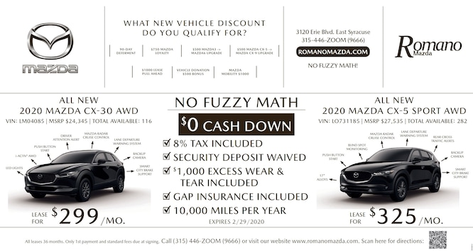 New Mazda Specials Syracuse