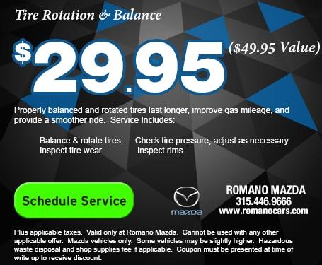 Mazda Tire Rotation & Balance