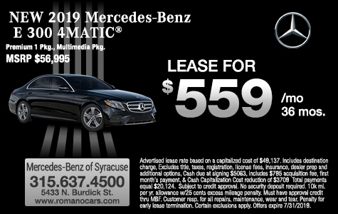 New E 300 Lease Specials At Mercedes Benz Of Syracuse