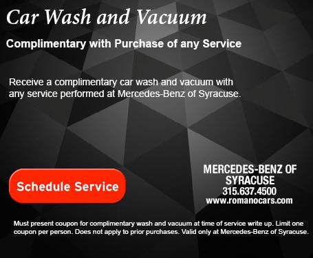 Mercedes-Benz Complimentary Car Wash & Vacuum