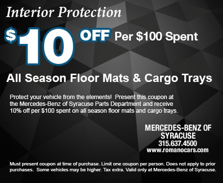 $10 off All Season Floor Mats and Trunk Trays