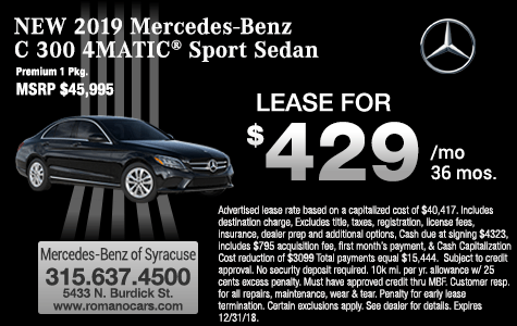 New 2019 Mercedes-Benz C 300 4MATIC Leases