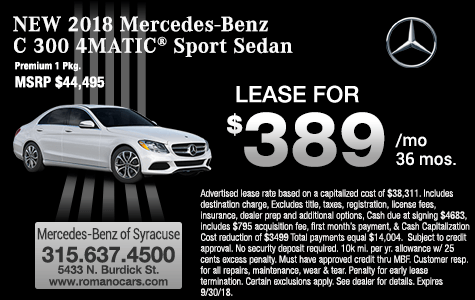 New 2018 Mercedes-Benz C 300 4MATIC Sedan Leases CNY
