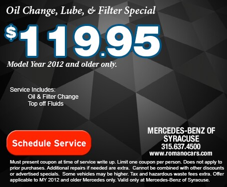 Mercedes-Benz Oil Change, Lube & Filter Special