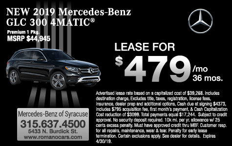 New 2019 Mercedes-Benz GLC 300 4MATIC Leases