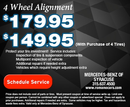 Mercedes-Benz 4 Wheel Alignment Service