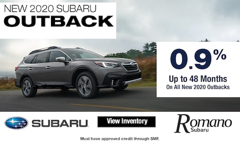 Special APR on New 2020 Subaru Outbacks