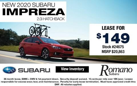 New 2020 Subaru Impreza 2.0i Hatchback AWD