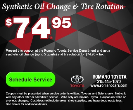 Toyota Synthetic Oil Change & Tire Rotation