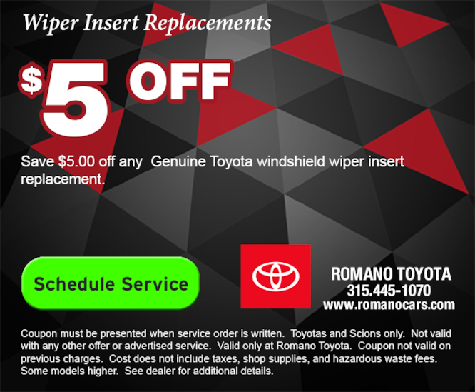 $5 Off Wiper Insert Replacement