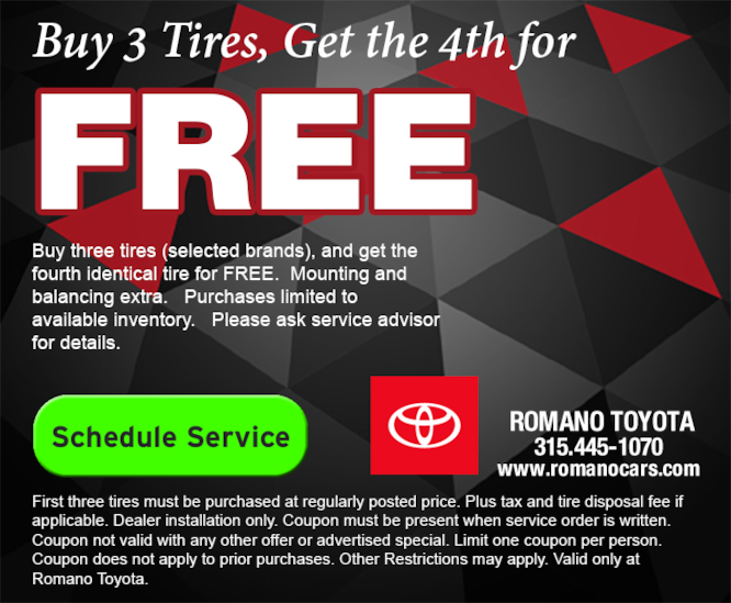 Toyota Tire Savings in East Syracuse NY