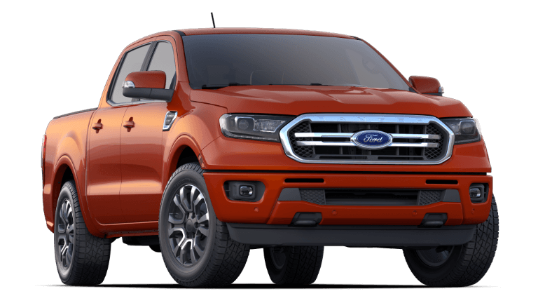 An Orange 2019 Ranger Lariat