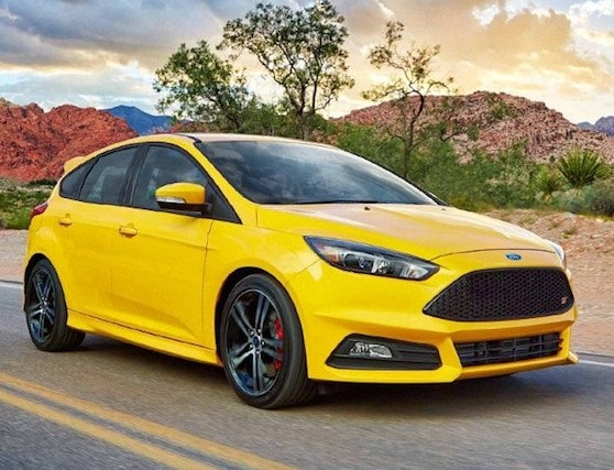 Yellow 2018 Ford Focus ST