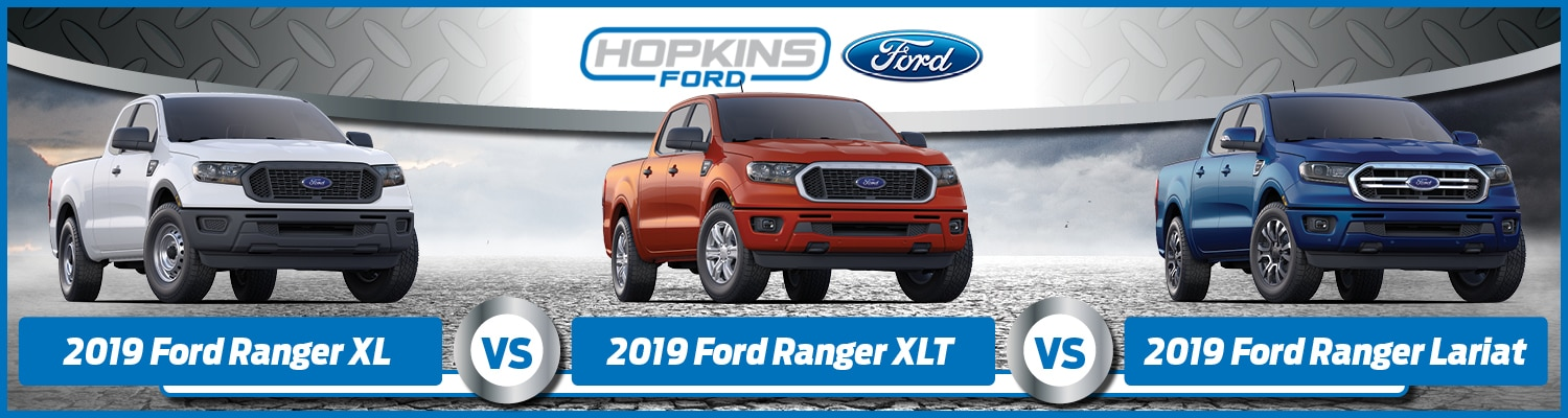 2019 Ford Ranger XL vs XLT vs Lariat