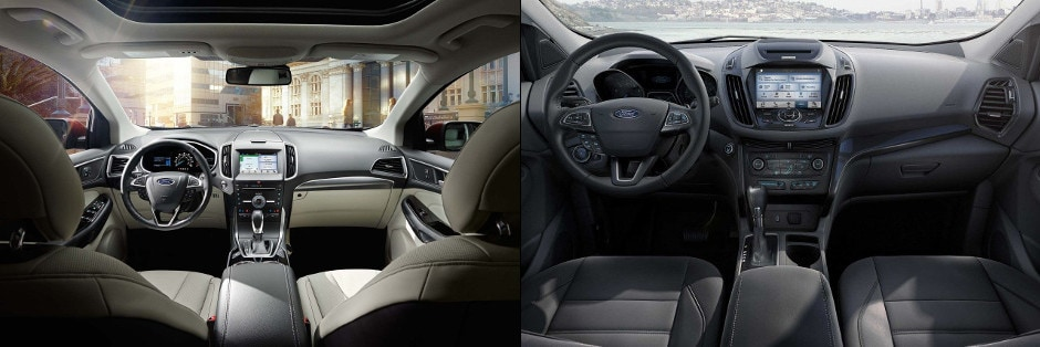 Ford Edge And Ford Escape Interior Dashboards