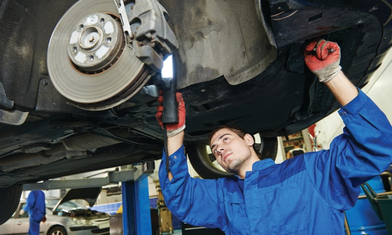 Maintenance and service on vehicle