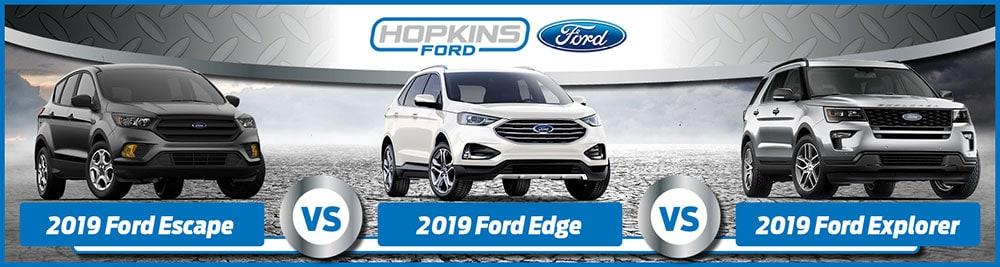 Ford Escape Vs  Ford Edge Vs  Ford Explorer