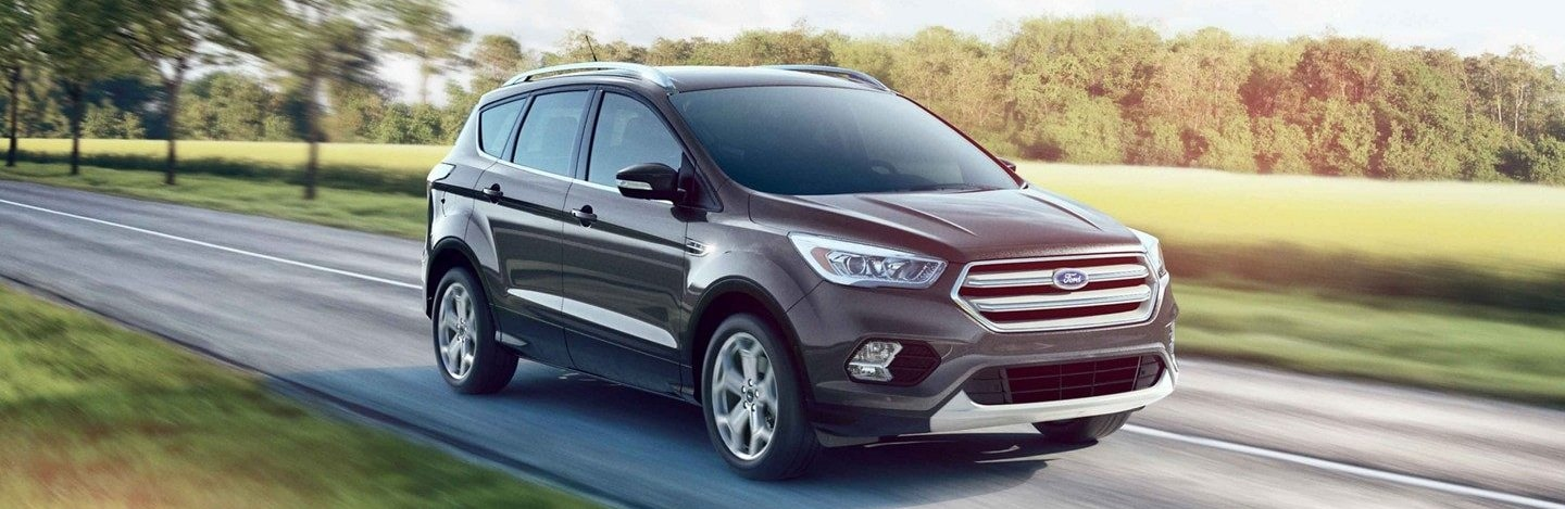 A 2019 Ford Escape driving down the road