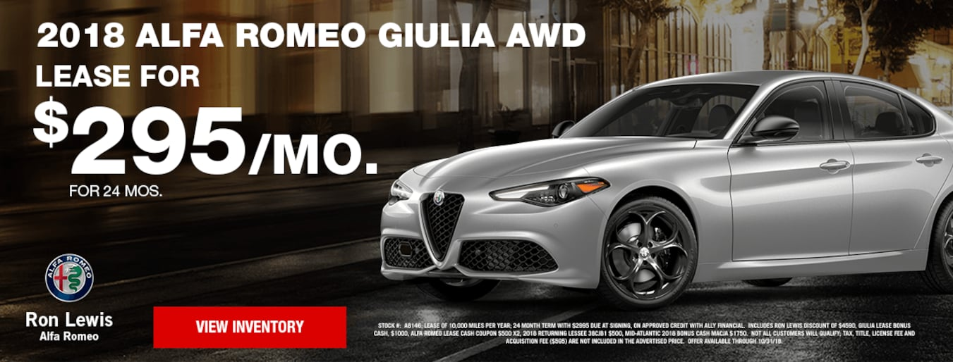 Ron Lewis Alfa Romeo New Used Car Dealer In Greater Pittsburgh Area - Used alfa romeo 4c for sale