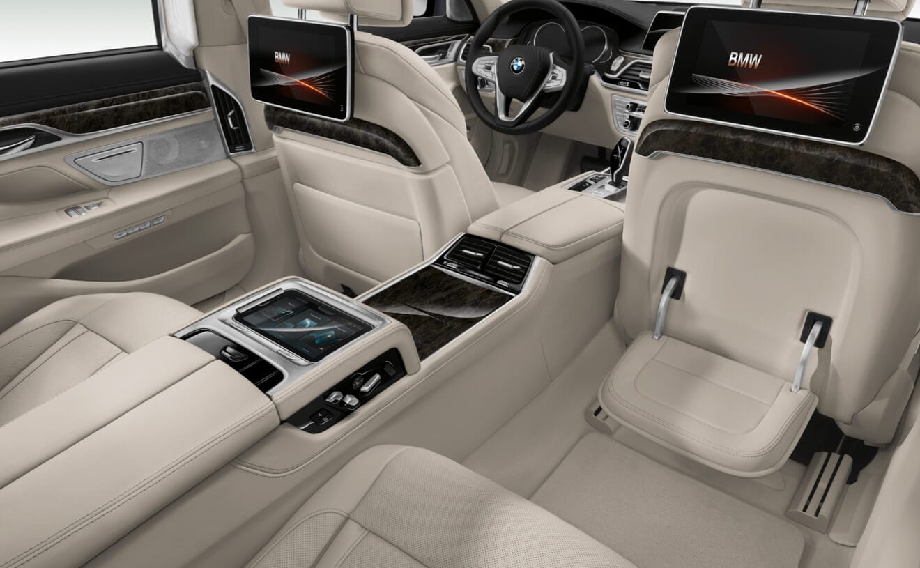 2018 BMW 750i XDrive Rear Seating Interior