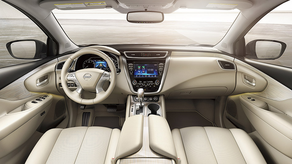2015 Nissan Murano White Leather Interior