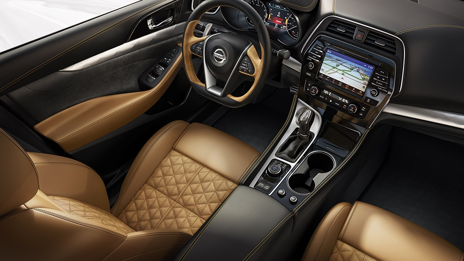 2016 Nissan Maxima with Camel Leather Interior