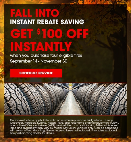 Get $100 off Instantly When You Purchase a Set of Eligible Tires