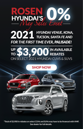 Rosen Hyundai's 0% May Sales Event