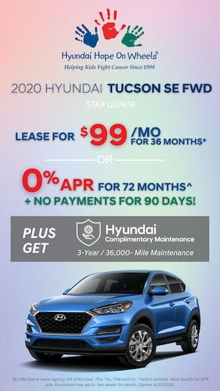 2020 Hyundai Tucson SE - Hope On Wheels