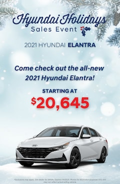Hyundai Holidays Sales Event- 2020 Hyundai Elantra