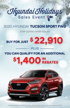 Hyundai Holidays Sales Event- 2020 Hyundai Sport FWD