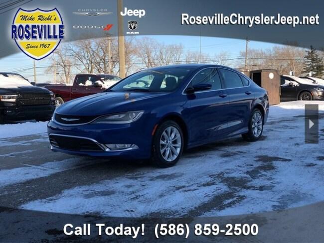 Used 2015 Chrysler 200 C Sedan Roseville