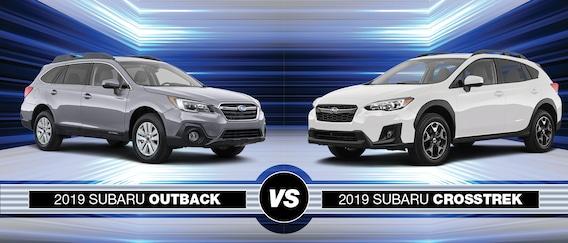 Crosstrek Vs Outback >> 2019 Subaru Outback Vs 2019 Subaru Crosstrek Arlington