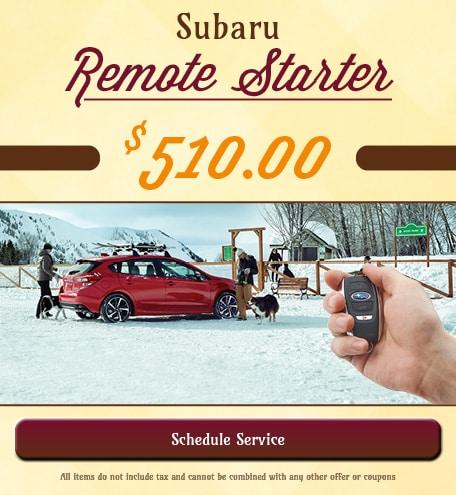 Subaru Remote Starter Special