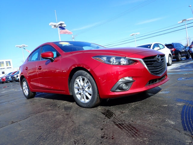 Featured pre-owned cars, trucks, and SUVs 2015 Mazda Mazda3 i Grand Touring i Grand Touring  Sedan 6A for sale near you in Arlington Heights, IL