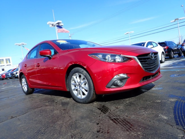 Certified pre-owned Mazda vehicle 2015 Mazda Mazda3 i Grand Touring i Grand Touring  Sedan 6A for sale near you in Arlington Heights, IL