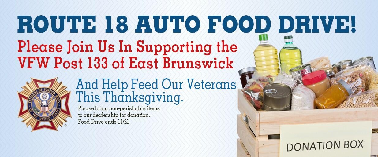 VFW Food Drive East Brunswick NJ