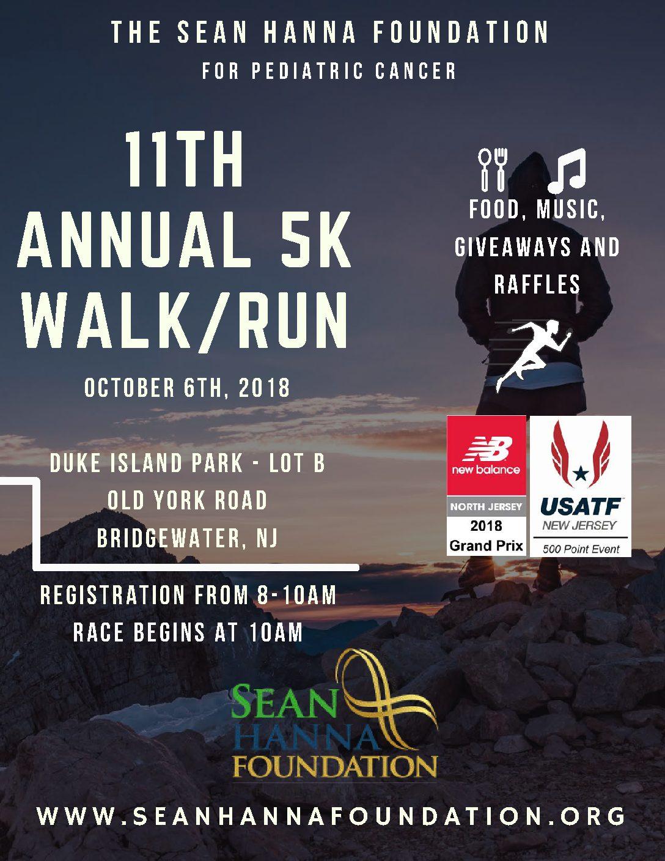 11th Annual Sean Hanna Foundation 5K