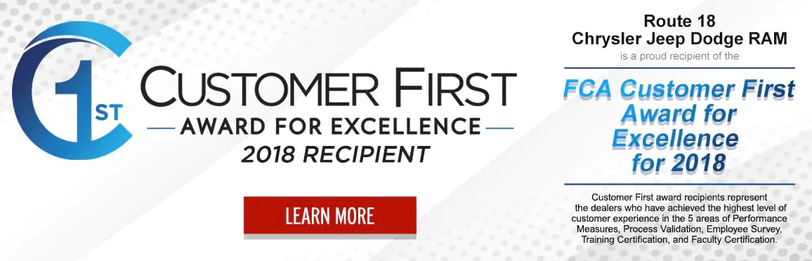 2018 Customer First Award For Excellence
