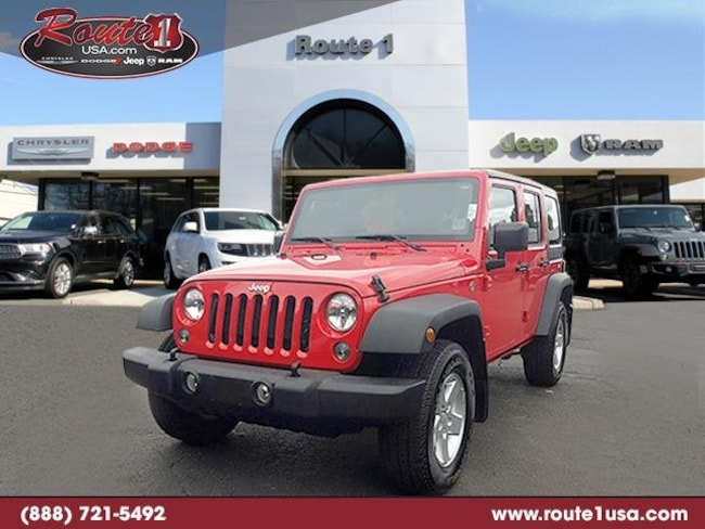 2016 Jeep Wrangler Unlimited Sport 4WD  Sport [PRC, 24S, RSC, ERB, WFF, DGJ, A7X9, MX3, AAJ, DMC] Firecracker Red Clearcoat in Lawrenceville