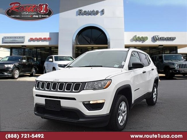 2018 Jeep Compass Sport Sport 4x4 [AD4, DF5, EDE, A7X9, AAK, 27A, PW3, WNF] White Clearcoat in Lawrenceville
