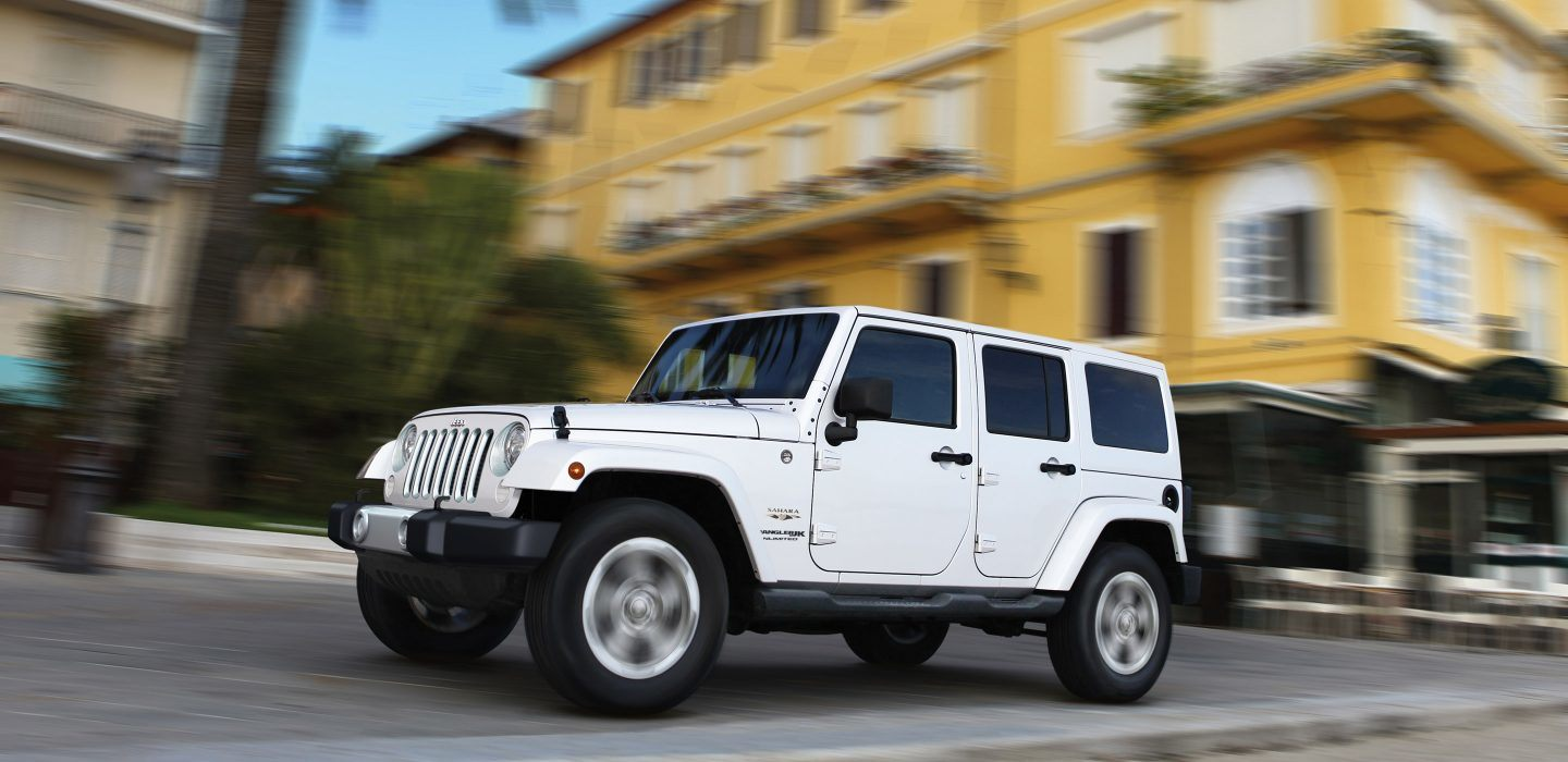 White NJ Jeep Wrangler Sahara